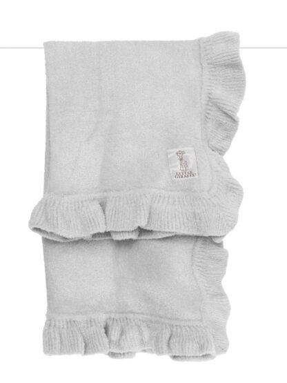 Dolce Ruffle Blanket Silver